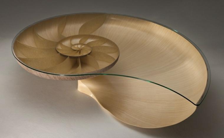 Muebles de diseo inspirados por la naturaleza y hechos de