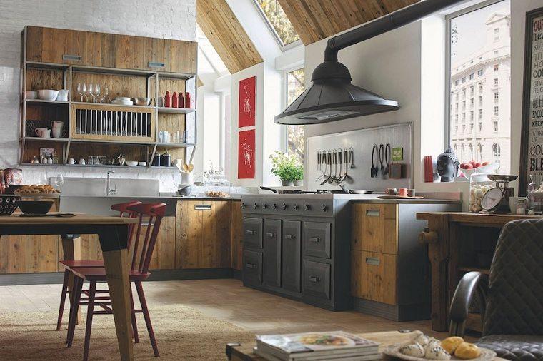 Muebles rsticos para la cocina  20 opciones originales