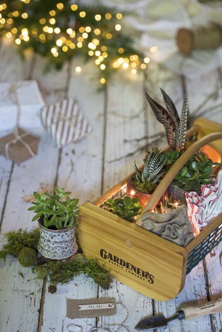 Centros de mesa de navidad con luces navideas para una