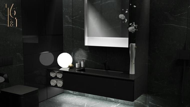 Decoracion de interiores con mrmol negro combinaciones