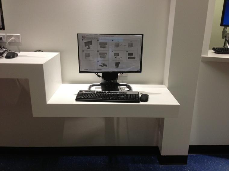 Mesa de escritorio flotante  ideas estupendas para una