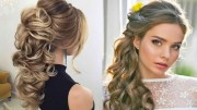 peinados de novia modernos semirecogidos