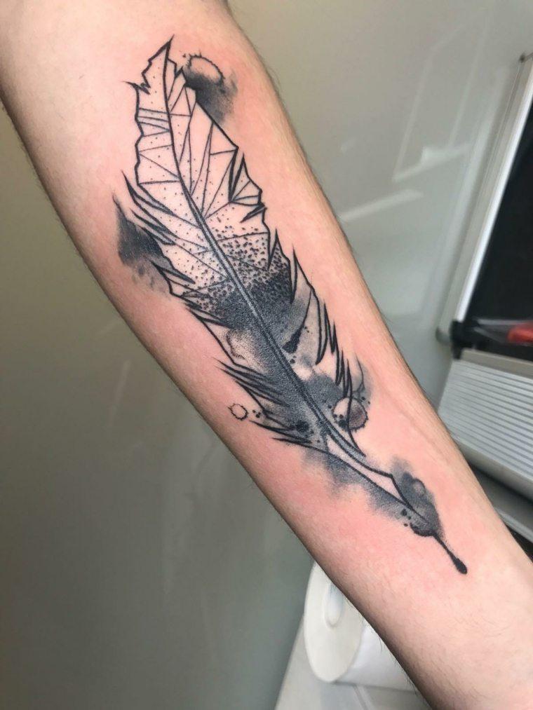 Tatuajes De Plumas Significado Diseños Estilos Y Más De 50 Fotos