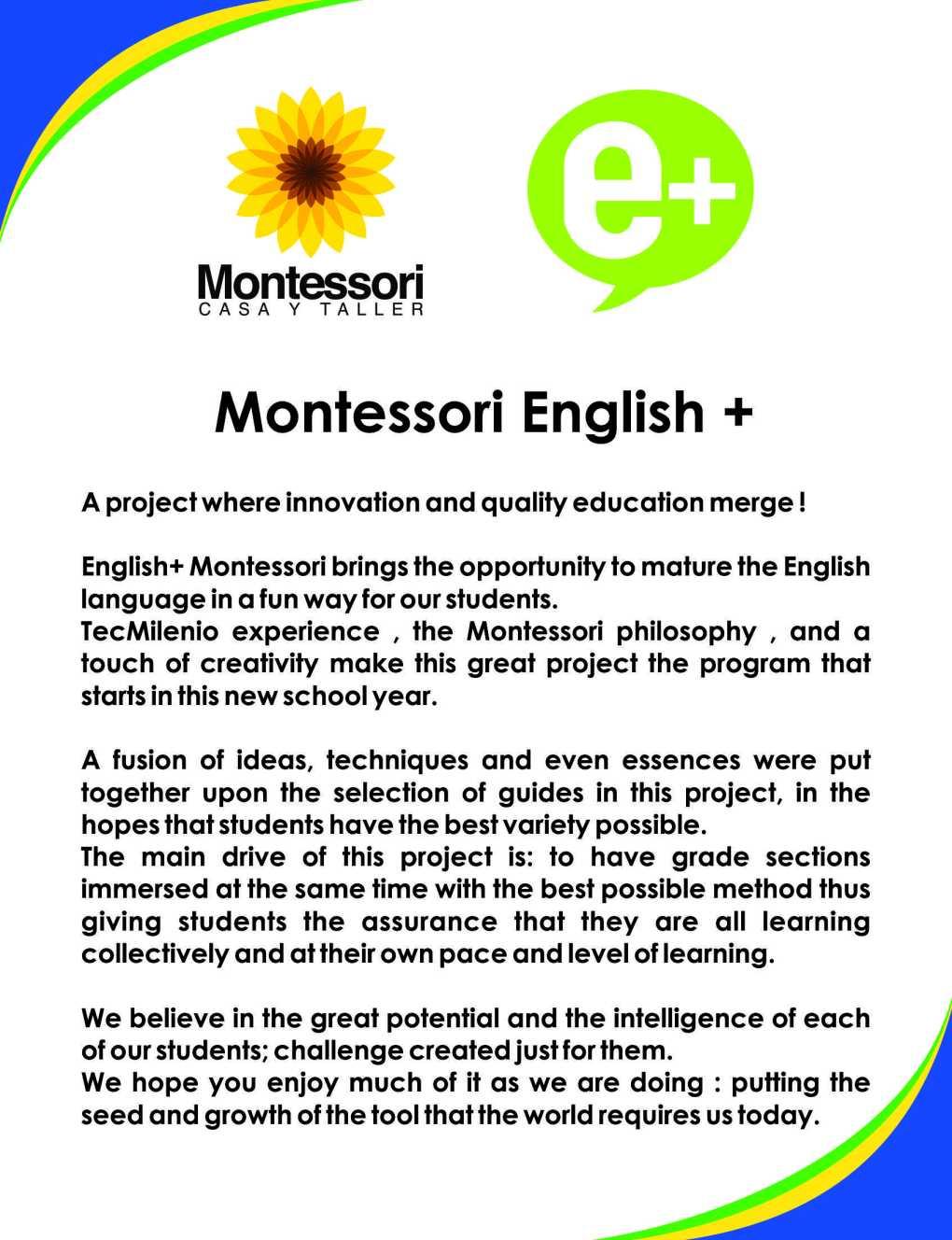 MONTESSORI E+