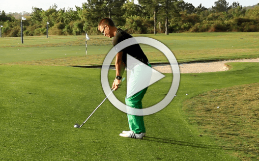 Golf ball above your feet