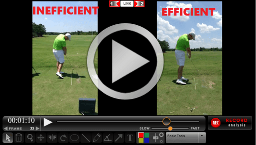 Rotary Swing Student Perfect Golf Impact Position