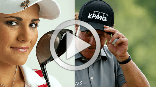 Lexi Thompson and Phil Mickelson powerful legs in the golf swing