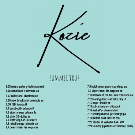 kozie tour poster