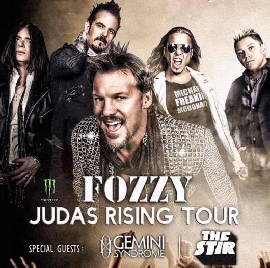 Fozzy Judas Rising Tour Admat
