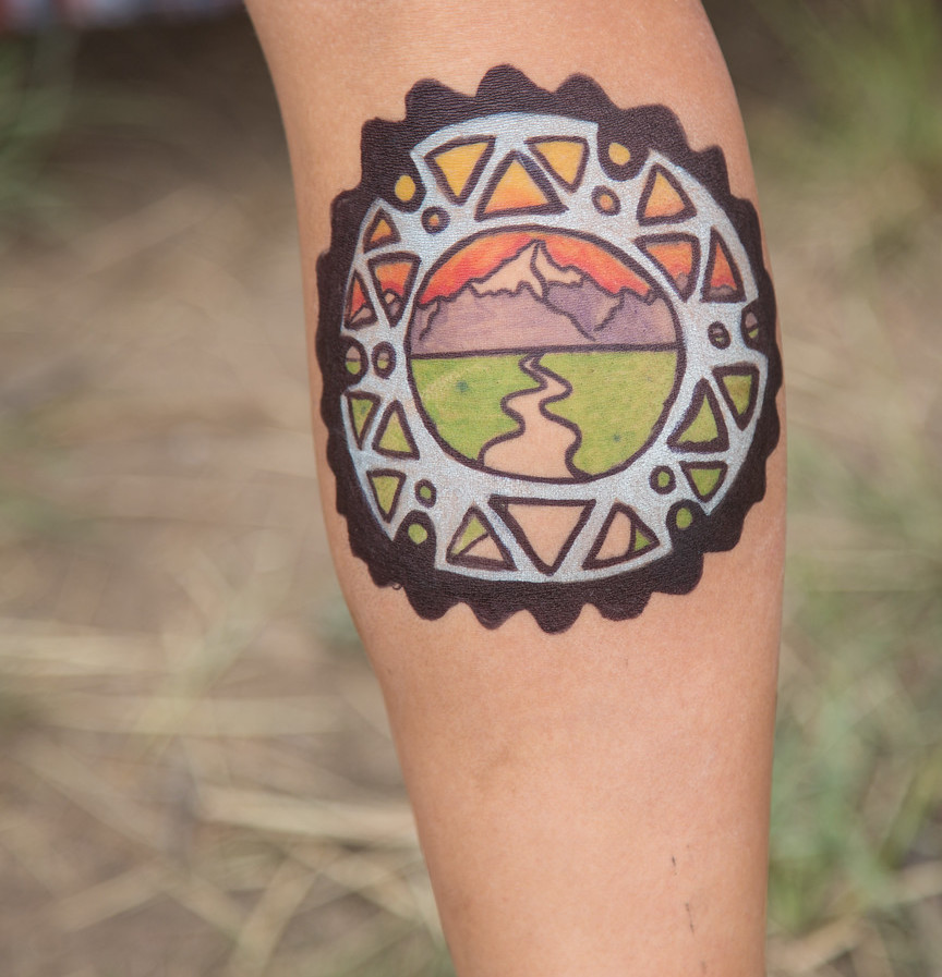 Tattoos of Crested Butte Mountains