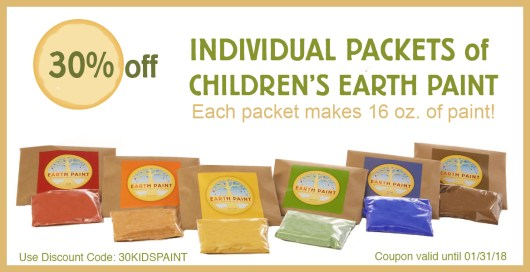 Happy New Year from Natural Earth Paint - 30 percent off kids paint
