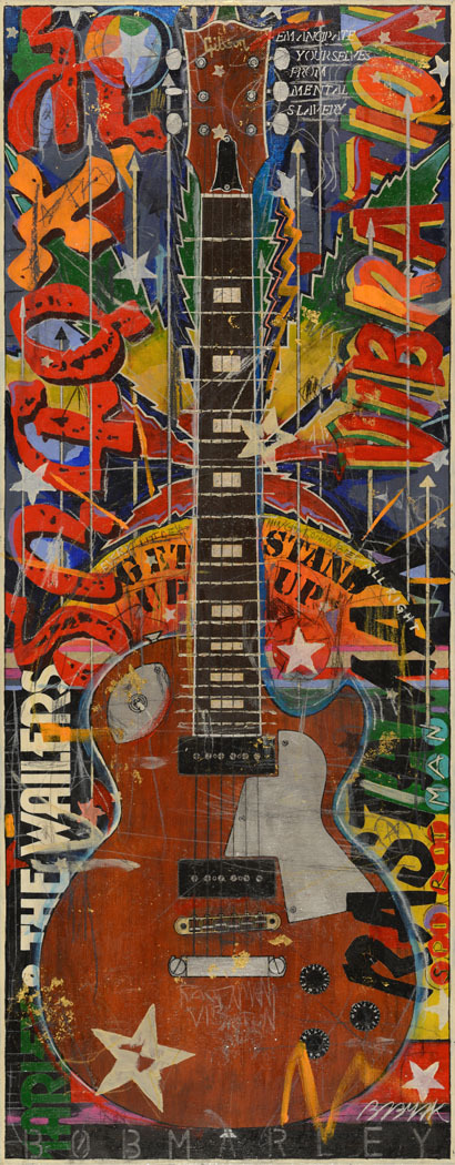 49x20 Bob Marley Gibson Les Paul