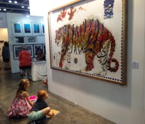 Tiger in Sunset Installed AAF Hong Kong