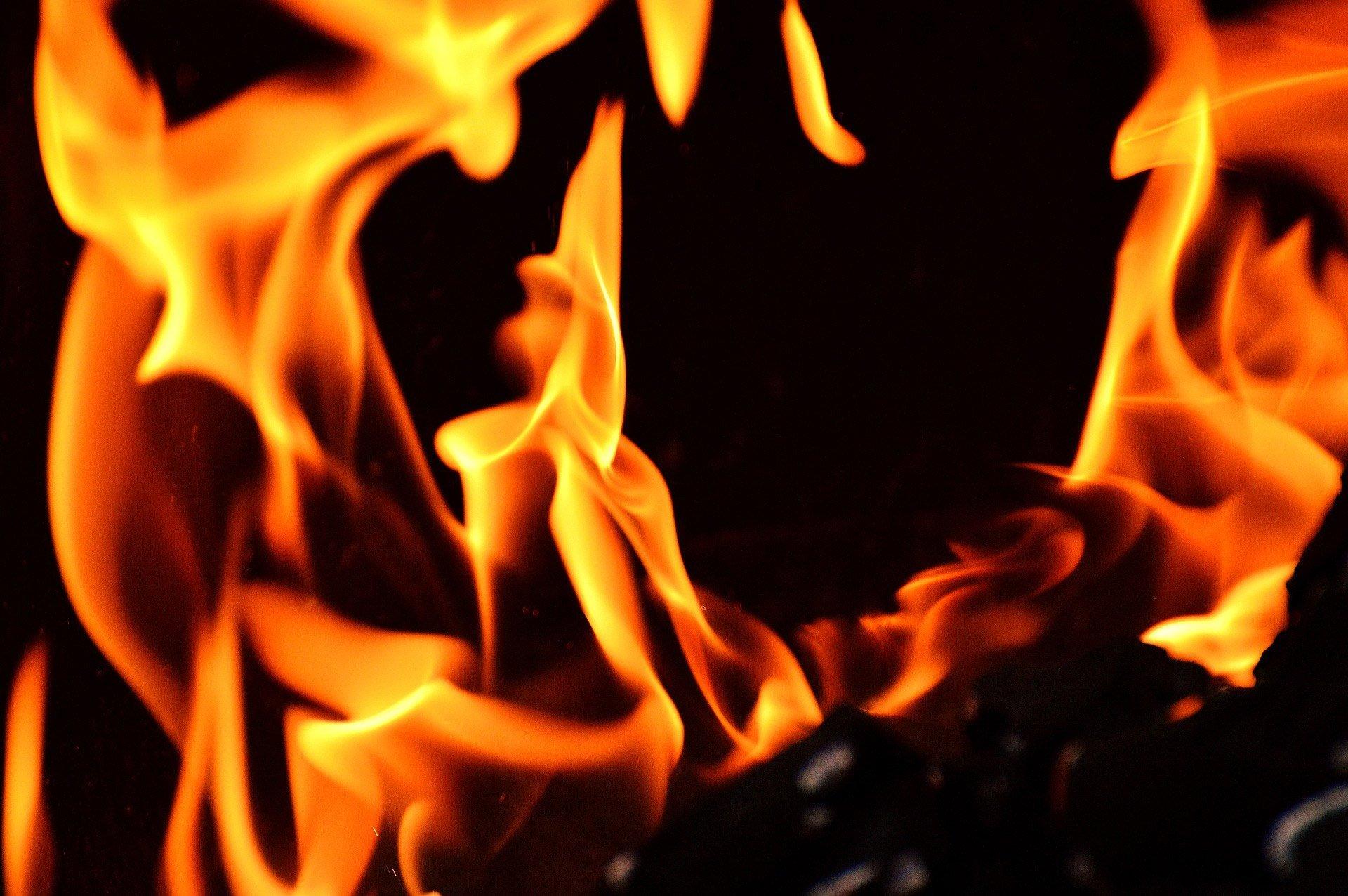 fire background bbq restaurant