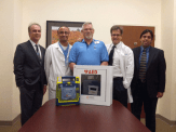 Alan Shannon receiving AED donated to Elks Club of Salem (9/28/12)