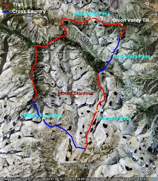 Simplified aerial map of the route (click for larger image)