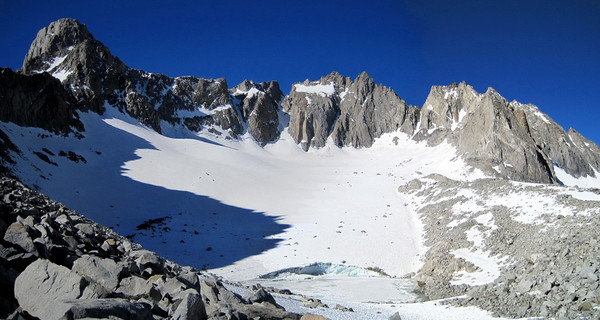 Palisade Glacier Panorama (Mount Sill on the left)