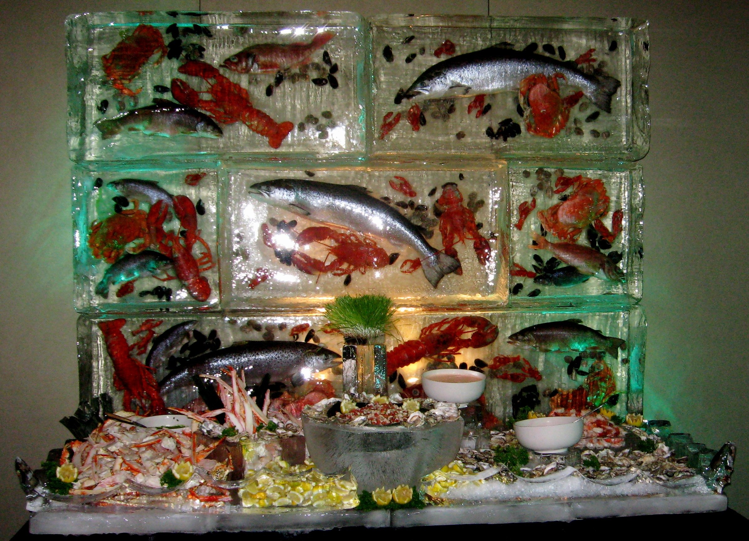 Seafood Display  Cascade Crystal Ice