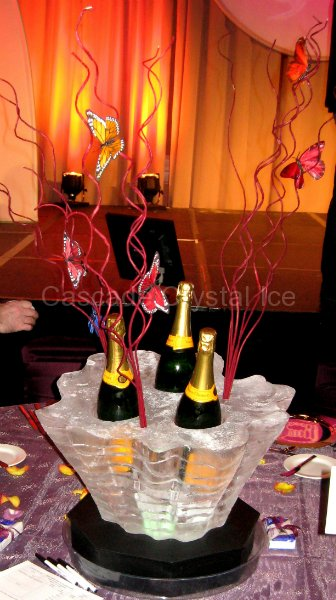 Table Centerpieces  Cascade Crystal Ice