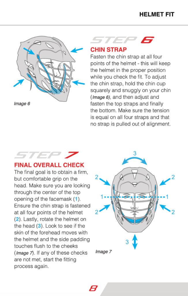 Lacrosse Helmet Size Chart : lacrosse, helmet, chart, Cascade, Lacrosse, Helmet, Safety, Booklet, Information