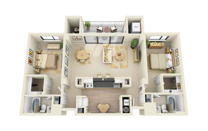 Cascade At Landmark Floor Plans