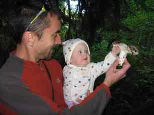 Ryan & daughter June w mushroom