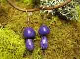 Purple Cort Earrings