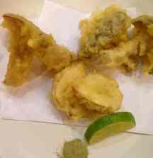 Assorted Wild Mushroom Tempura with Green Tea Dipping Salt