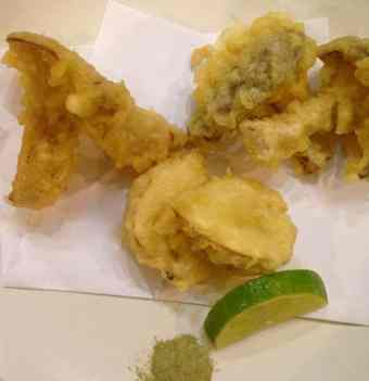 Assorted Wild Mushroom Tempura with Green Tea Dipping Salt