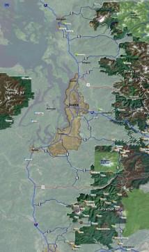 Cascade Mountain Range Map