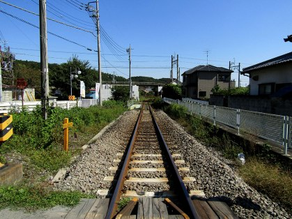 The lonely train track near Tōbu Takezawa Station was a hint of the peaceful, quiet day ahead of us.