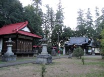 The grounds of Hachiman Shrine which dates back to the Kamakura shogunate of the early 1200s.