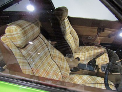 The plaid seats of the 1978 RX-7