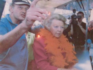 The picture the queen at Bob's Vlaamse Frituur.
