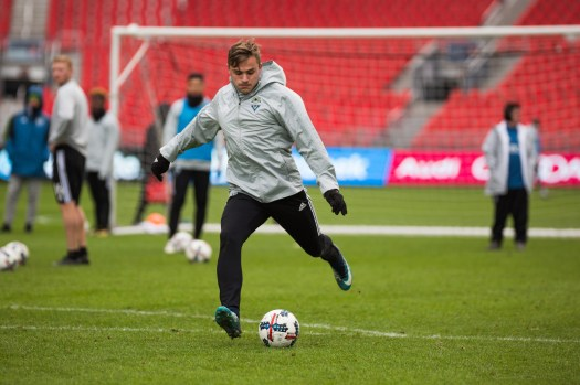Jordan Morris takes a shot. ( Sounders FC)