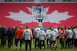 Sounders prepare for practice. ( Sounders FC)
