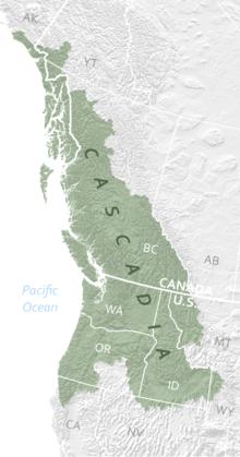 cascadia bioregion map