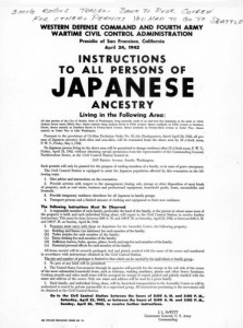 japanese exclusion order 1 cascadia poster