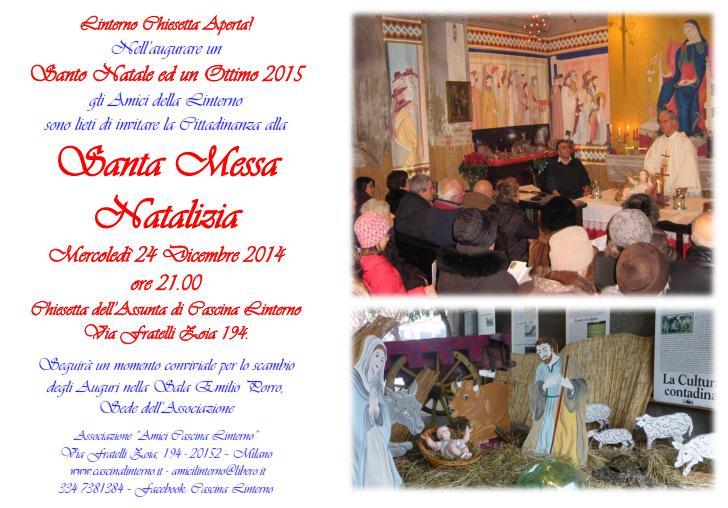 Santa Messa di Natale nella Chiesetta di Cascina Linterno