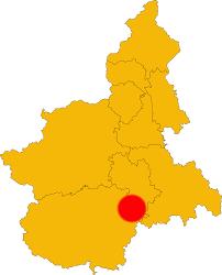 Cartina del Piemonte Langhe Alba