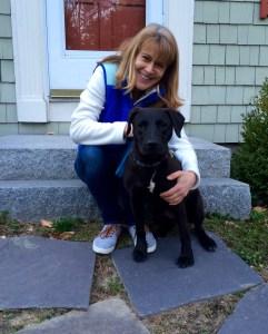 Ivy Frignoca and her dog Tiller