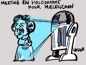 Cartoon: Mélenchon hologram