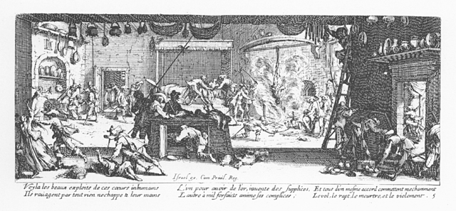 Plate 5, The Plundering of a Farm
