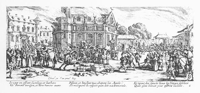 Plate 6, The Destruction of a Monastery