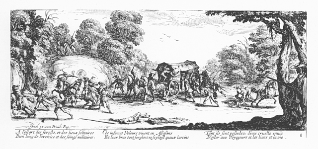 Plate 8, Attack on Travelers
