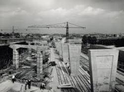 Périphérique under construction, 1960