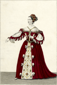 Mlle George as Marie Tudor