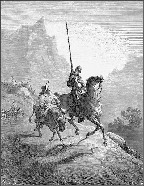 Don Quixote and Sancho, Gustav Doré