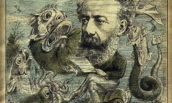 Jules Verne on Magazine Cover