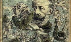 Jules Verne on Magazine Cover